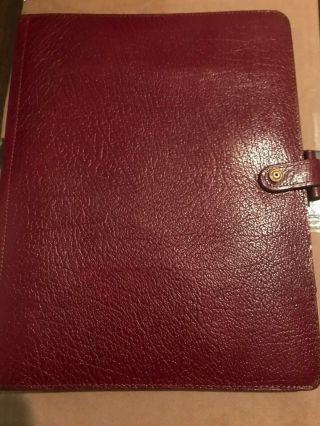 Filofax Deskfax Dx1 Clf 7/8 Rare Vintage Burgundy Real Calf Leather Made In Uk