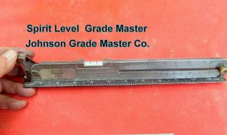 Precision Pitch Gauge Johnson Grade Master Sliding Grade Level Very Rare