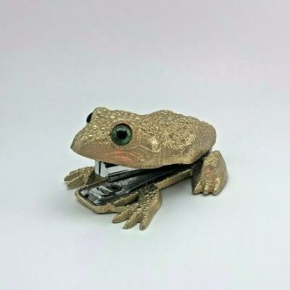 Extremely Rare Collectible Ted Arnold Vintage Frog Brass Metal Stapler
