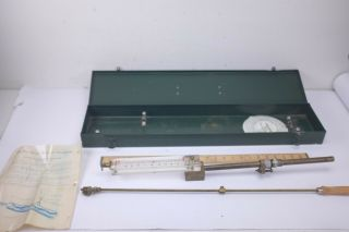 Vintage And Rare C.  W.  Cox Piro Swivel Manometer Veloctygage With Metal Case