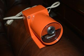 Panasonic Pana Point Electric Pencil Sharpener Orange Rare Color