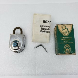 Sargent & Greenleaf (sg) 8077a Combination Padlock,  Antique,  Combo Unknown