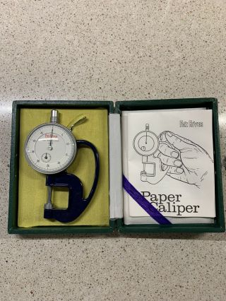 """Rare 4.  5 """" Fox River Paper Co.  Dial Thickness Gauge - Japan"""