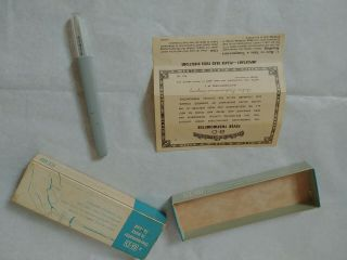 Rare Vintage Asepto B - D Rutherford Nj Glass Oral Thermometer W/original Box