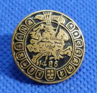 Antique Vintage Multi - Armoured With Knigth Bronze Button