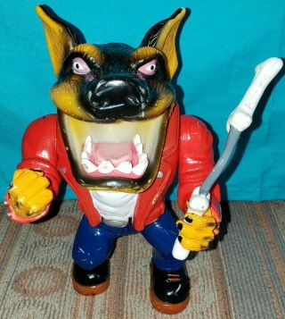 Vintage 1996 Muscle Mutts Street Wise Designs Gutter Figure Toy Dog - Rare