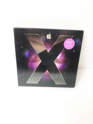Mac Os X Leopard 10.  5.  4 Apple Operating System Booklet Install Dvd Rare