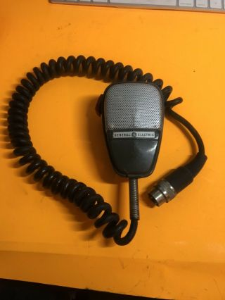 Vtg Rare General Electric Cb Radio Microphone Shure Brothers Em25a Ge