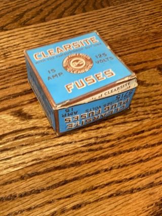 Antique Clearsite Fuses Box With Fuses