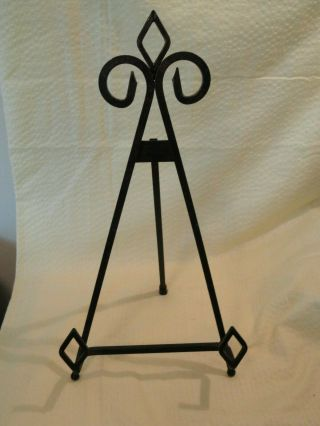 """13 """" Antique Bronze Finish Metal Easel Plate Display Photo Holder Stand"""