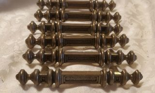 Vintage Set Of 6 Bronzed Drawer Pulls Handles 5 Inches Long National Lock