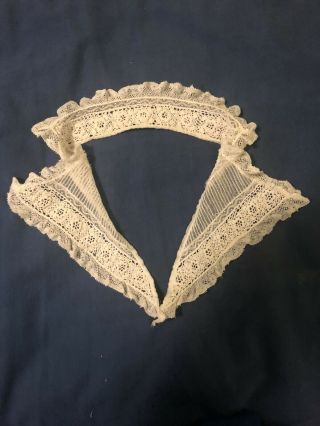 Vintage Irish Lace Collar With Crochet And Machine Made Lace