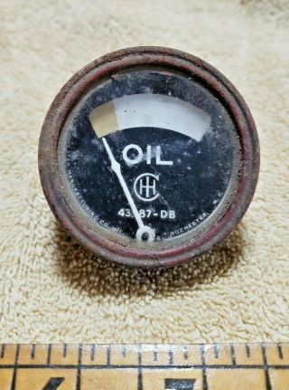 Antique International Harvester Tractor Ih Oil Gauge