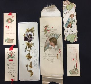 6 Antique Bookmarks Holiday