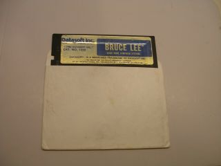 Rare Bruce Lee By Datasoft For Commodore 64/128 And Atari 400/800