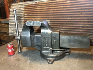 "Rare Columbian 8"" Industrial Foundry Vise Seller 180 Lbs Giant 15"" T"