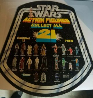 Star Wars Kenner Vintage Display Rare Collect All 21 Action Figures