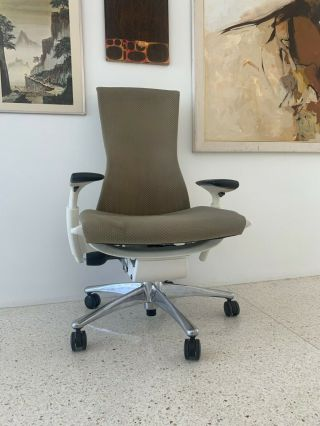 Herman Miller Embody Chair Rare Color Combination And Carpet Casters