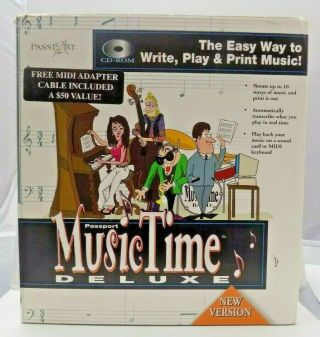 Passport Music Time Deluxe 1996 Cd Rom For Windows 3.  1 And 95 Rare Complete