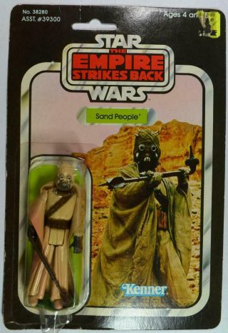 Sand People,  Star Wars,  Empire Strikes Back,  Kenner,  41 Back,  No.  38280