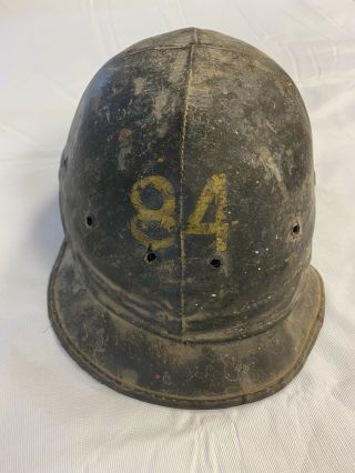Vintage Bullard Hard Boiled Leather Hard Hat - Rare -