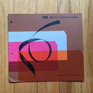 Rare Ibm 1401 Data Processing Systems Booklet — International Business Machines