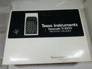 Texas Instruments Ti - 2500 Datamath Calculator W/box,  Complete Rare Non -