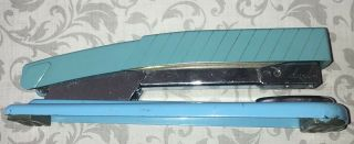 Vintage Mid Century Rare Collectible Ace Fastener Co Aqua Blue Dart 450 Stapler