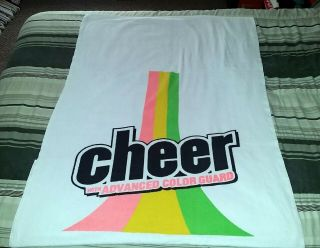 Rare Vintage Cheer With Advanced Color Guard Promo Beach Towel - Made In Usa
