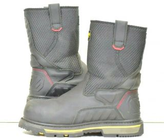 Stanley Steel Toe Boots Workwear Leather Rubber Fat Max Size 9 Heavy Duty Rare
