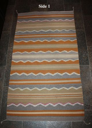 Navajo Rug Rare Wide Ruins Rare - Made By Weaver 29 X 52 Good Size