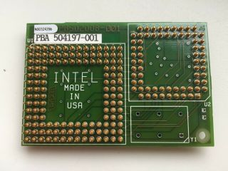 Intel A80386dx - 25,  387 Fpu,  On Very Rare Adapter Sbc387mx25,  Vintage Cpu,  Gold
