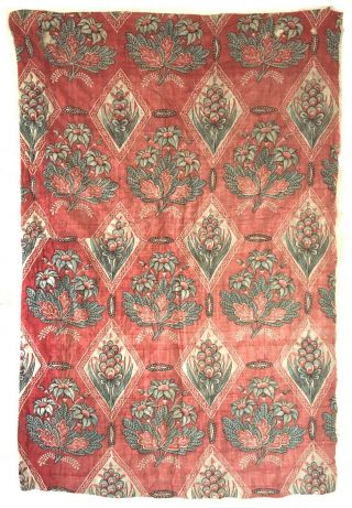 Rare 18th C.  French Printed Cotton Block Printed Fabric (2901)