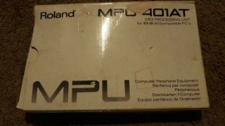 Rare Roland Mpu - 401at Brand Cables And Instructions Complete