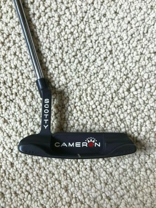"Rare Scotty Cameron Studio Stainless Newport "" Black Mist "" With Headcover/ 34 """