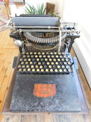 Rare Early Typewriter The Caligraph 2 C1880s Serial 26784 G.  W.  N Yost Usa