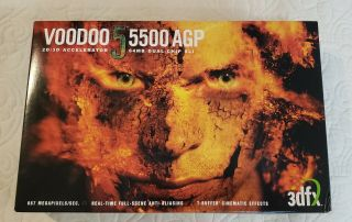 3dfx Voodoo 5 5500 Accelerator 64mb Agp - Very Rare With Box