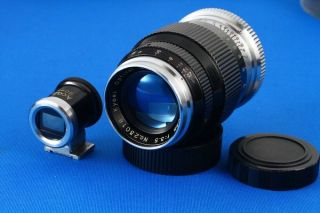 """"""" Very Rare """" Kyoei Acall 80mm F 3.  5 Leica L39 Lens """" Exc,  """" W/finder,  23016"""