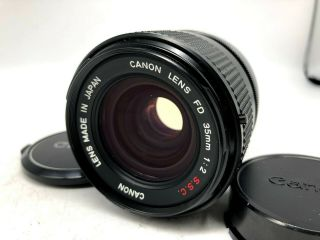 """Rare """" O """" 【nr Mint】 Canon Fd 35mm F/2 S.  S.  C.  Ssc Mf Wide Angle Lens From Japan"""