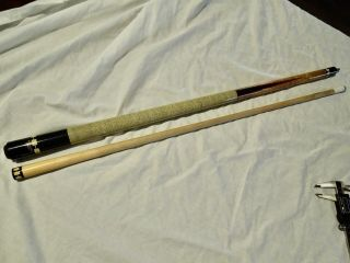 Vintage Rare Jim Rempe Meucci 2 Point Pool Cue 19oz 12.  8mm
