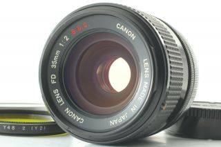 """Rare """" O """" [opt.  Mint] Canon Fd 35mm F2 S.  S.  C.  Ssc Mf Wide Angle Lens From Japan"""