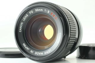 Rare O Lens [exc,  5] Canon Fd 35mm F2 S.  S.  C.  Ssc Wide Angle Lens From Japan