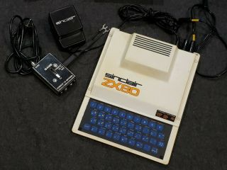 Rare Vintage Sinclair Zx80 Computer With Adapter,  Data Cables And Books