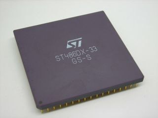 Rare St 486dx - 33 Gs - S Cpu Engineering Sample Or Special Prod.