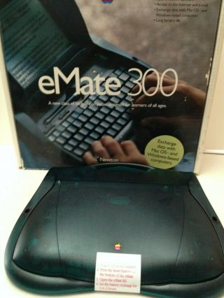 Rare Apple Newton Emate 300 With Box Laptop Umpc Pda