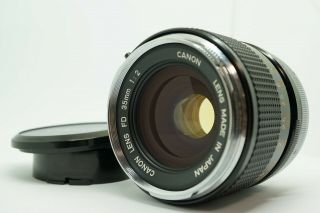 """[top Mint] Rare """" O """" Canon Fd 35mm F/2 Wide Angle Mf Prime Lens From Japan"""