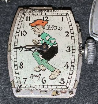Very Rare Vintage Comic Strip Character Smitty Wrist Watch 1935 Heaven Watch