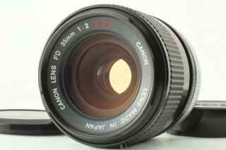 """[ N.  Rare """" O """" ] Canon Fd 35mm F/2 S.  S.  C.  Wide Angle Lens Ssc From Japan 54"""