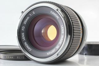 """Rare """" O """" [near Mint] Canon Fd 35mm F2 Wide Angle Mf Lens From Japan"""