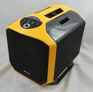 Corsair Graphite Series 380t Portable Mini - Itx Case - Rare Yellow Hornet Edition